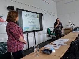 Kathryn and Sarah presenting at the annual Froebel Trust conference.
